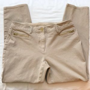 Chico's SO SLIMMING crop ankle pant/size O. EUC